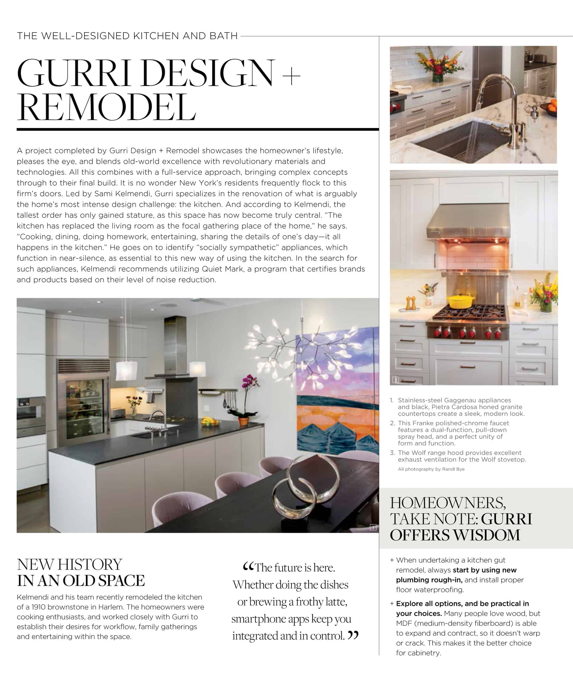 The Well-Designed 21st Century Kitchen – Gurri Projects ...