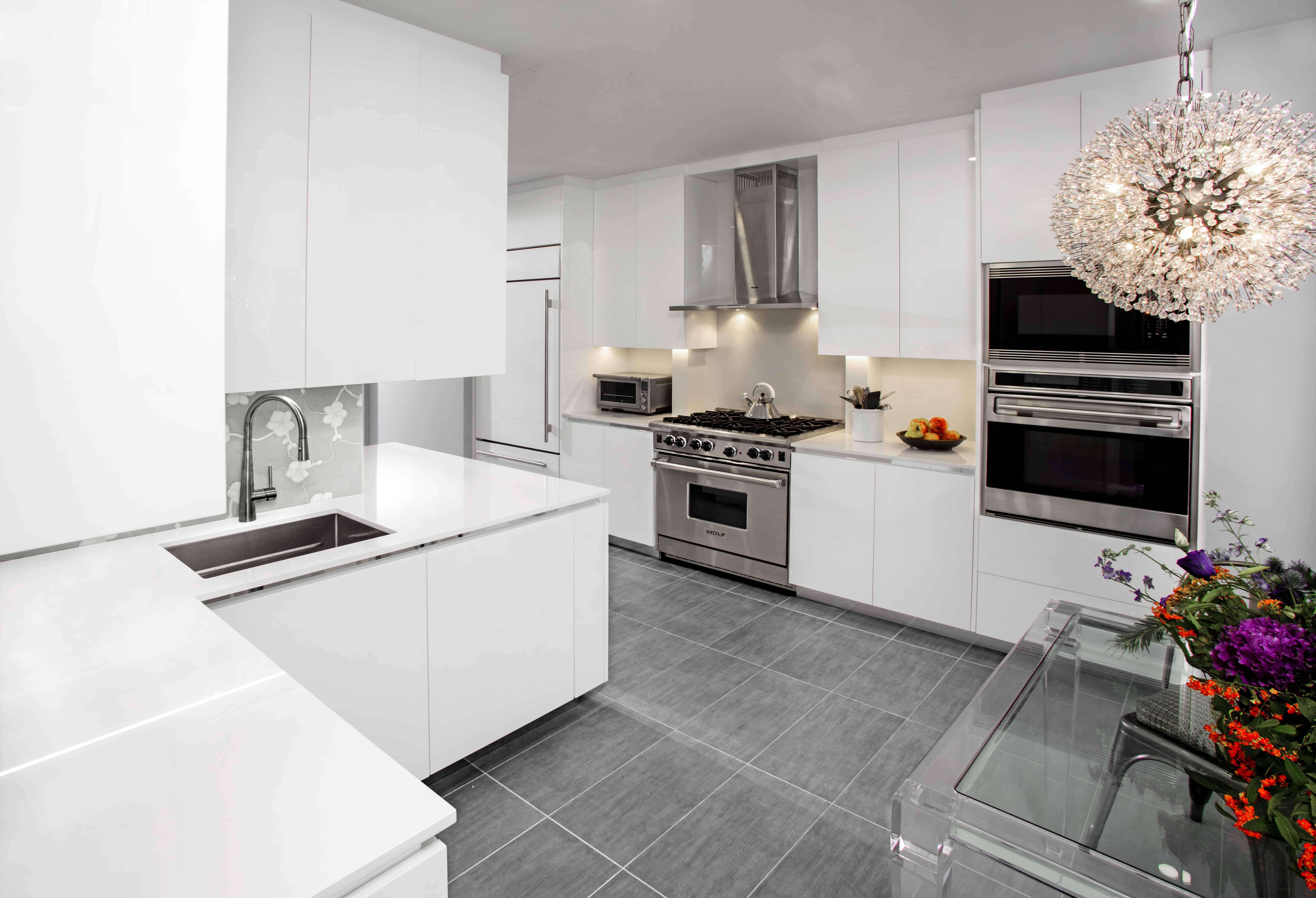 Modern Minimalism In A Nyc High Rise Kitchen Design